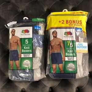 Men's Fruit of the Loom Tag Free Knit Boxers Large